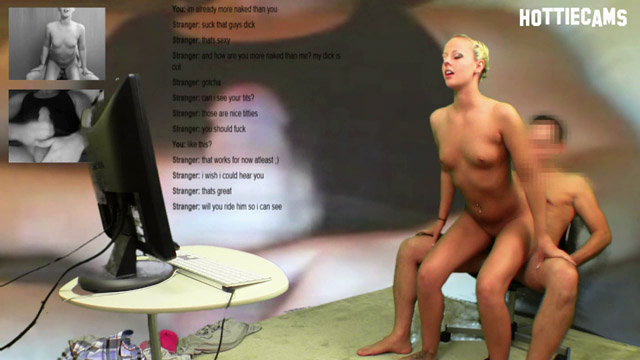 Searching random chat sites for partners who are interested in the topic of sex, Jenna and Steve located an older guy who was more than happy enough to boss @JennaSuvari around so he could pop his load all over the place. Jenna knows she's the hottie on the hottiecam and starts off with an amazing blowjob on Steve's willing dick. Bending Jenna Suvari over the table so he can fuck her from behind, Steve Awesome assumes his favorite position while our random hottiecam chat partner strokes his cock furiously. Steve and Jenna comply with his every wish.  Jenna makes sure she maintains eye contact with random chat guy while her pussy gets pounded by Steve's thick dick.